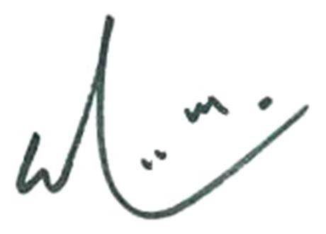 Signature of Prof. Simon Ho