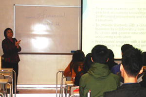 Our professors introduced details of different concentrations to BBA Year 2 students. 2