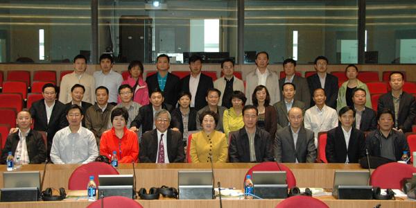 中央統戰部經濟處長訪問團與劉教授大合照。