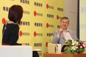 黃曉嵐小姐(左一)訪問施永青先生(右一) 樓市走勢的看法 3