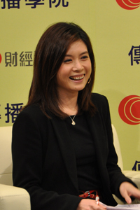 有線電視財經資訊台首席記者李燕芬小姐擔任嘉賓主持 1