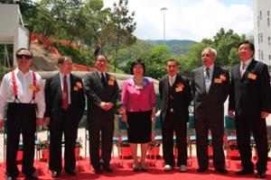 (From left) Mr. Martin Tam, Mr. Derek Zen, Mr. Robert Lam, Chairman Leung, Dr. Ho Tzu Leung, Mr. Samuel Lam and Dr Chui hosted the ceremony