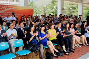 Guests and staff listened to the speech attentively