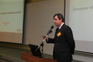 Mr Rodrigo Capelato, Executive Director of SEMESP delivered a speech at the meeting