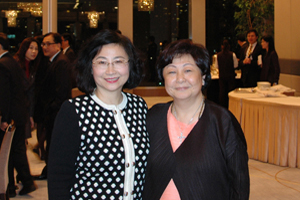 A photo of Mrs. Leung and Ms. Lee before the dinner