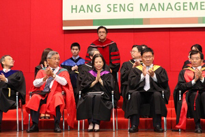 President, Provost, Vice Presidents, Deans, Programme Directors and other registryfessors wore Academic gowns to meet new students on the Opening Ceremony