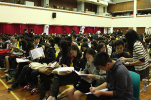 Students attended seminars at the School Hall.