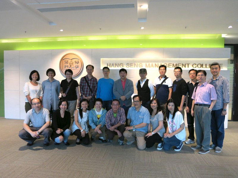 Group photo with President Simon Ho at New Academic and Administration Building, Block D