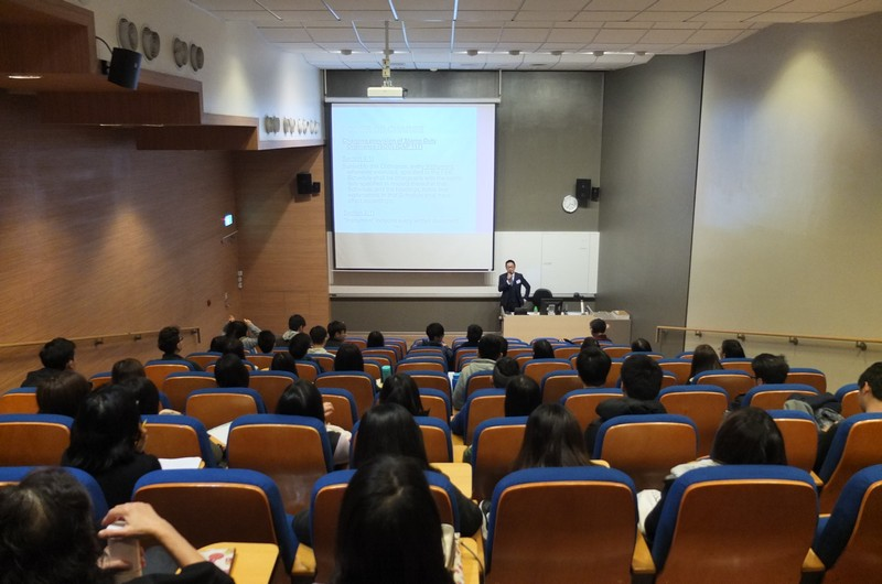 About 60 students and staff participated in the guest lecture