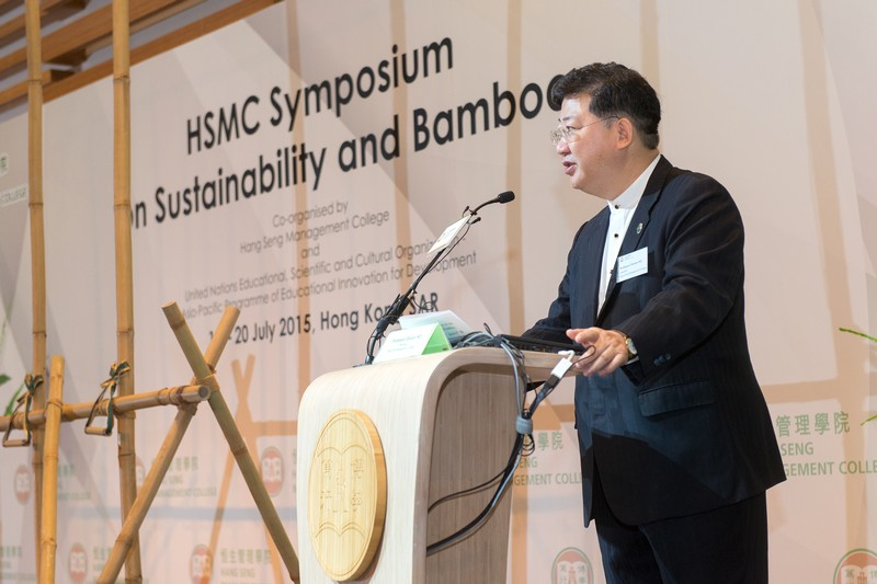 President Simon Ho delivered his welcome address at the Symposium Opening Ceremony