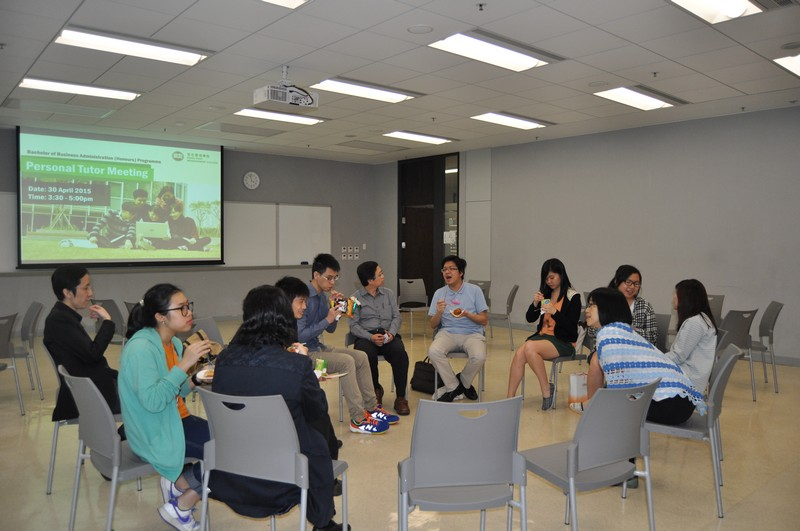 Students vividly shared their views with personal tutors
