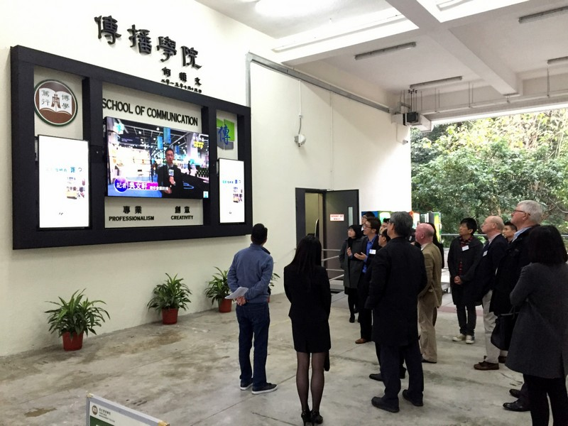 Panel members visited the School of Communication's teaching and learning facilities