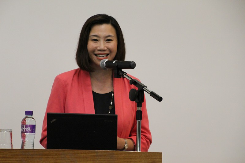 Dean Scarlet Tso (School of Communication) gave welcoming speech