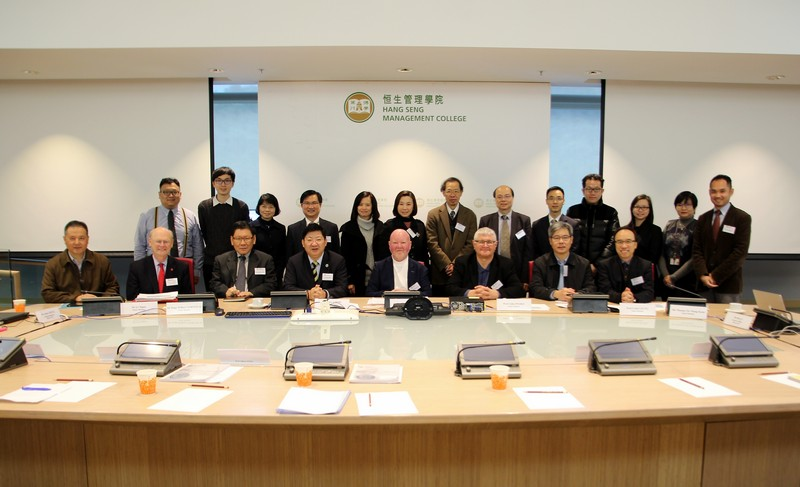 Group photo of the Panel, Senior Management of HSMC and SCOM staff