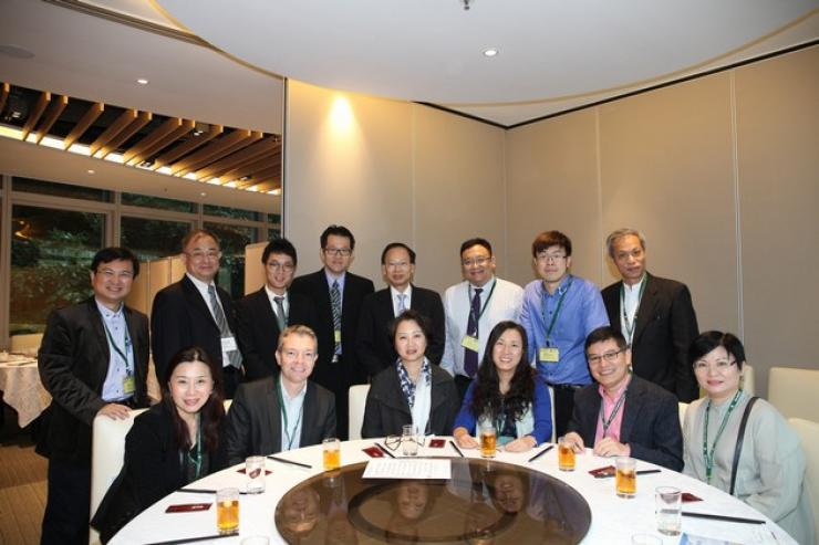 Honourable guests and professors from the School of Communication enjoyed  lunch together