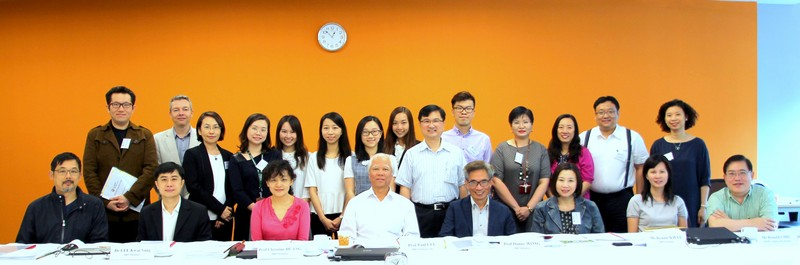 Group photo of IRP members and BJC professors and students