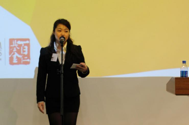 MC of the talk, Cheng Man Yee Sammi, BJC Year3 student