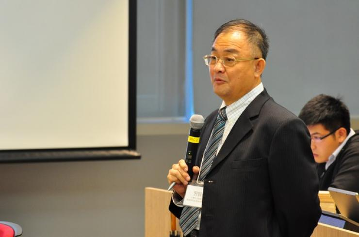 Prof Hsi Hsien-deh, Department head of the College of Communication, Taiwan Fu Jen Catholic University, delivered a speech