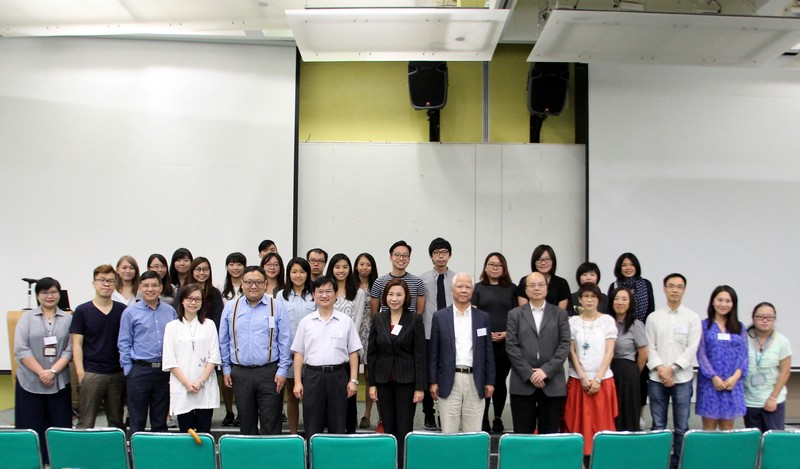 Group photo of professors and students of the School of Communication