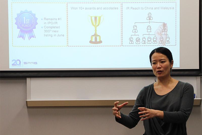 溫淑賢女士分享她最近統籌的企業社會責任項目