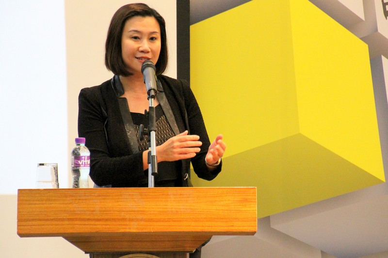 Professor Scarlet Tso, Dean of School of Communication, delivered a welcome note