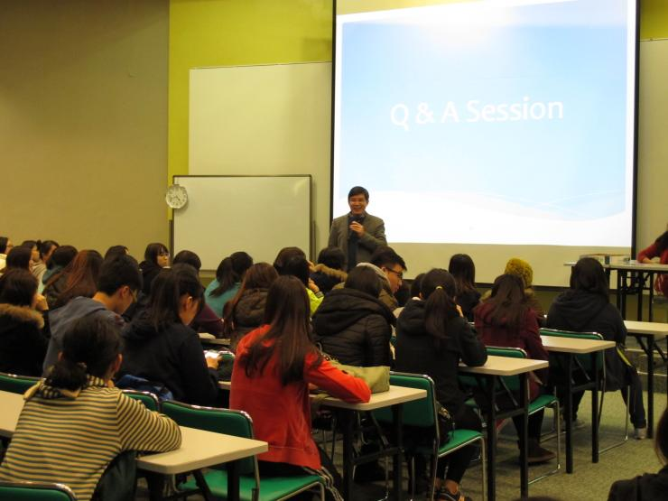 Prof. Howard Song answered the questions from BJC students