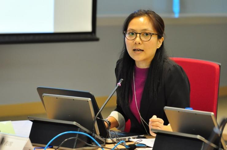 Ms Connie Chan, PhD Candidate of The Chinese University of Hong Kong delivered a speech