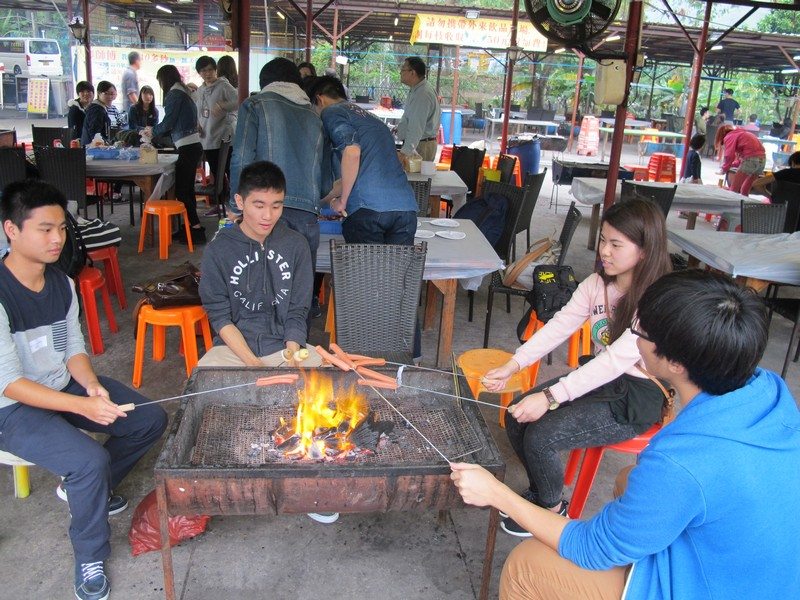 Professors and students from the School of Communication enjoyed a BBQ feast