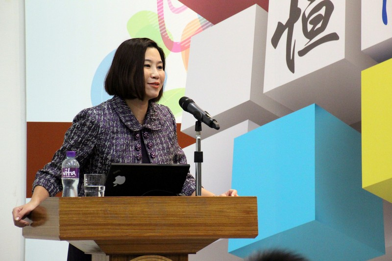 Professor Scarlet Tso, Dean of School of Communication, gave a welcoming speech