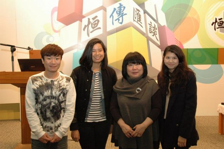 Photo of Ms. Choi and BJC Students