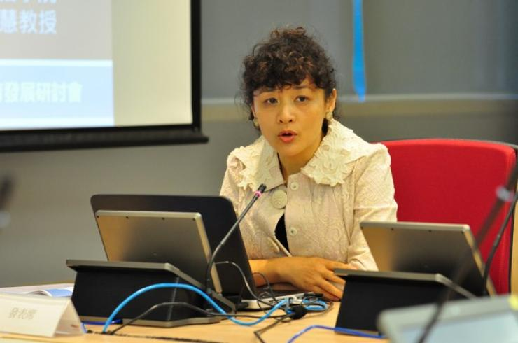 Prof Christine Huang, Professor of the School of Journalism and Communication, The Chinese University of Hong Kong, delivered a speech