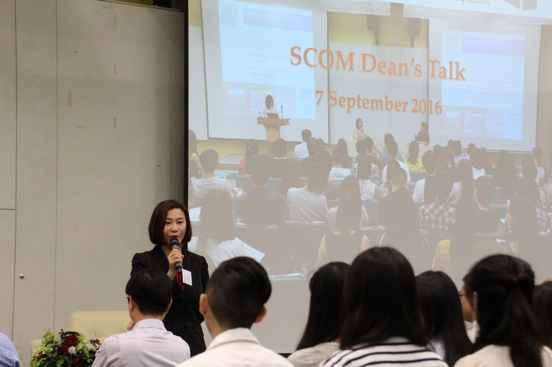 Dean Scarlet Tso, School of Communication, had a direct conversation with BJC Year 4 students