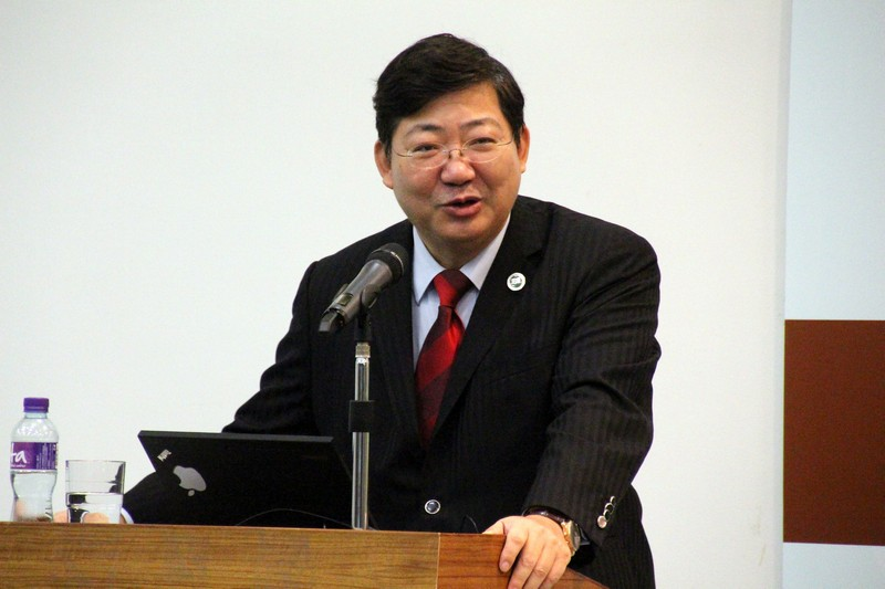 President Simon S M Ho encouraged students to pursue their dreams