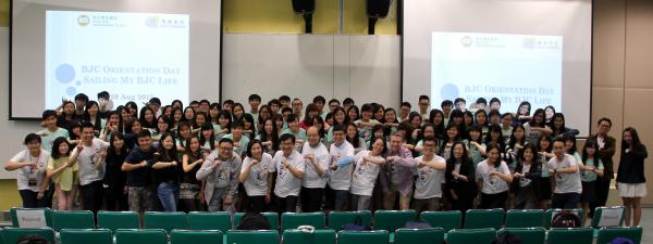 Group photo of Professors and students from the School of Communication