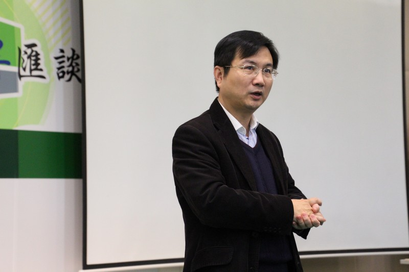 Mr James Chang, Head of Department of Journalism and Communication, gave a speech