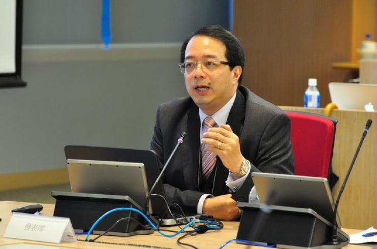 Mr Richard Tsang, President of Strategic Public Relations Groups, delivered a speech
