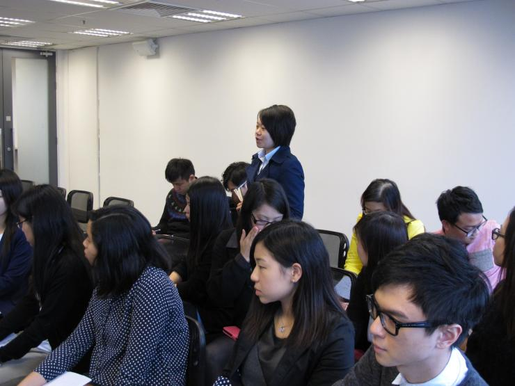 BJC students raised questions during the Q & A session