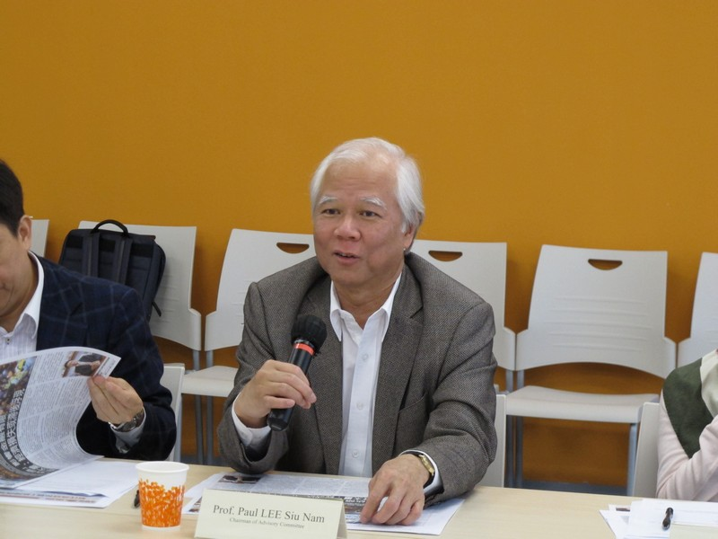 Professor Paul Lee provided valuable opinions on future development of School of Communication