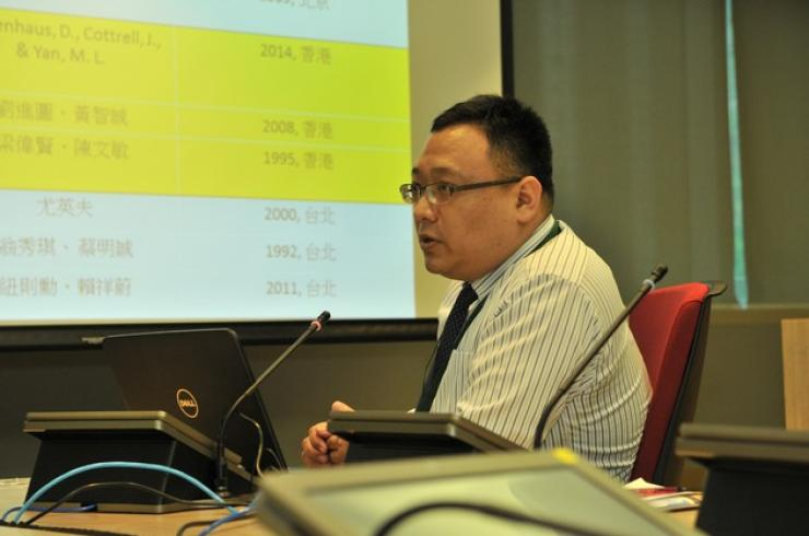 Dr Sammy Hu, Assistant Professor of the School of Communication, HSMC, delivered a speech
