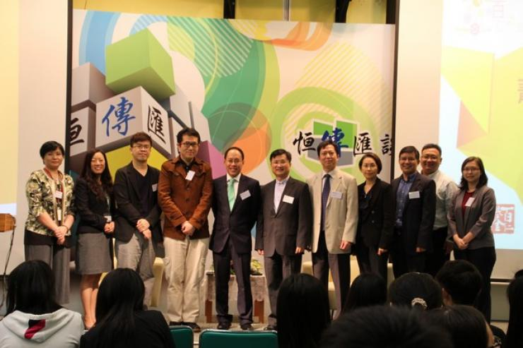 Group Photo of Dr Lee and Professors from School of Communication