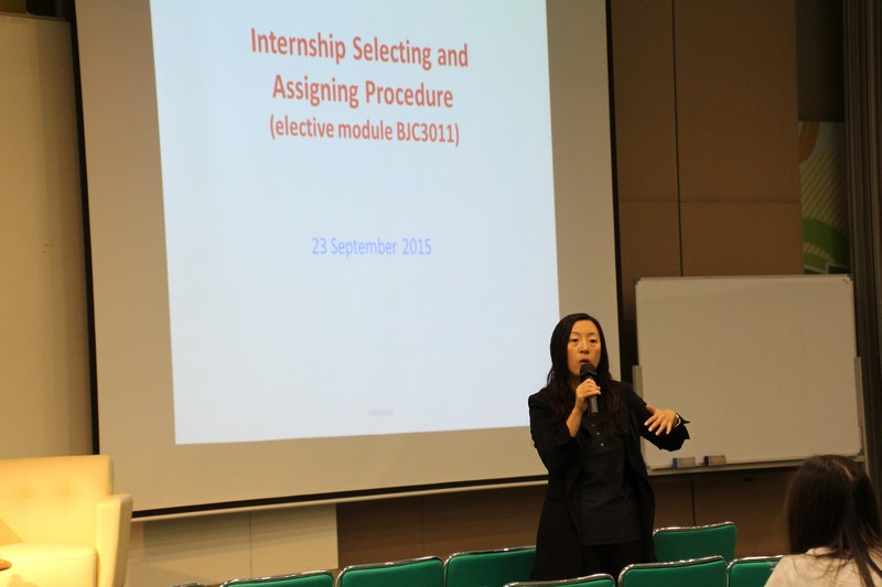 Dr Meily Cheung gave supplementary information of the Summer Internship