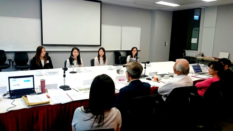 Student representatives shared their learning experiences with IRP members