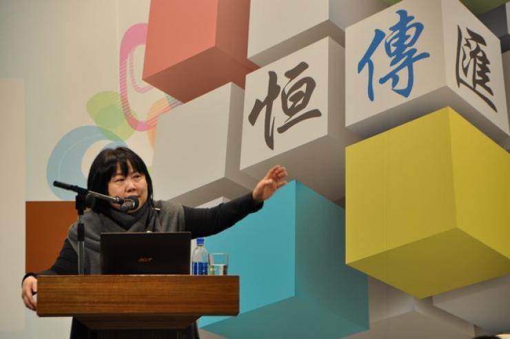 蔡敏女士分享她從事記者工作﹑公共事務以及公關行業工作的寶貴經驗