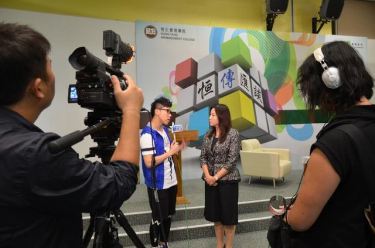 "Prof Scarlett Tso was interviewed by ""Asian Entertainment"""