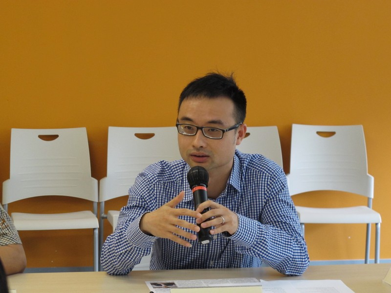 Dr Chris Shen provided valuable opinions on academic issues