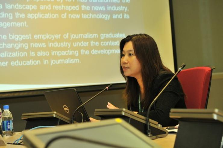 Prof Scarlet Tso, Dean of the School of Communication, HSMC, delivered a speech