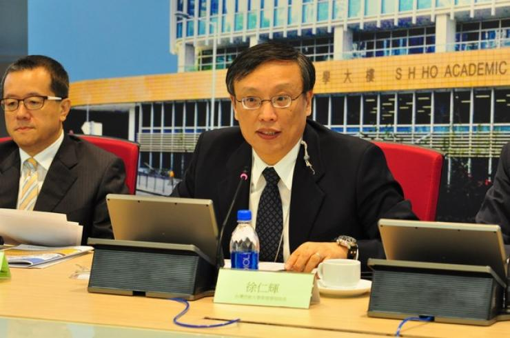 Chairperson of Session II, Prof Hsu Jen-Hui, Dean of the College of Management, Taiwan Shih Hsin University