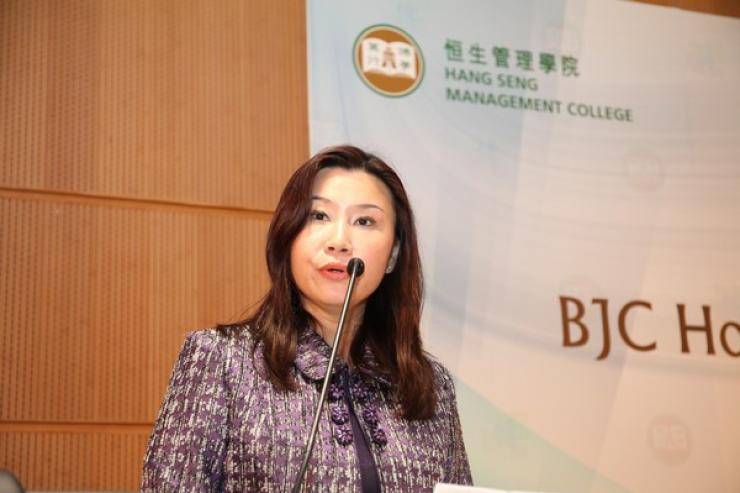 Prof Scarlet Tso, Dean of the School of Communication, gave a speech
