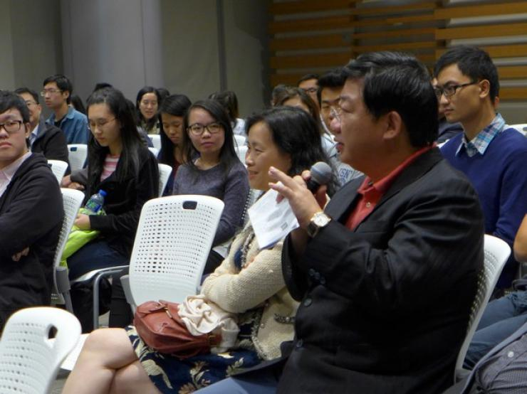 Scholastic and inspiring discussions between HSMC academic staff and representatives  from the Hong Kong Theatre Works