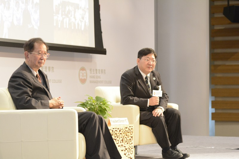 Professor Lee and Professor Ho during the Q&A session